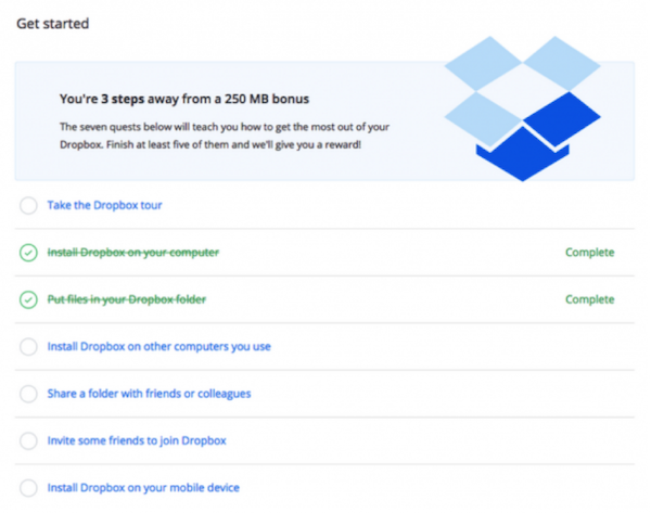 Gamification DropBox