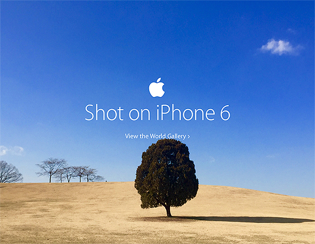 Apple ad shot on iphone 6