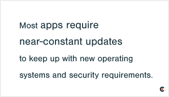 Most apps require near-constant updates.