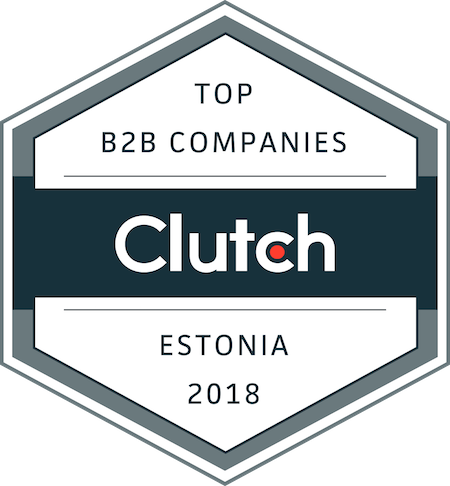 badge for best business service providers in estonia in 2018