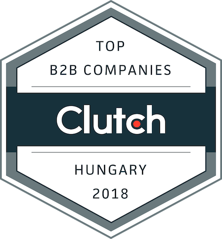 badge for best business service providers in Hungary in 2018