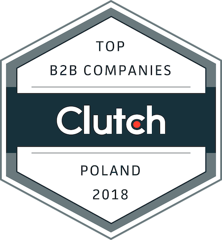 badge for top B2B companies in Poland in 2018