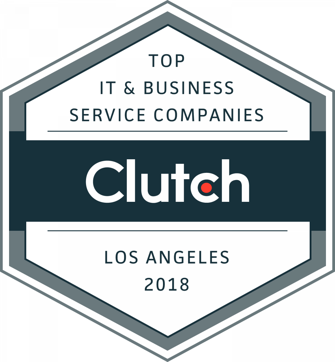 Top IT & Business Service Companies Badge Los Angeles 2018