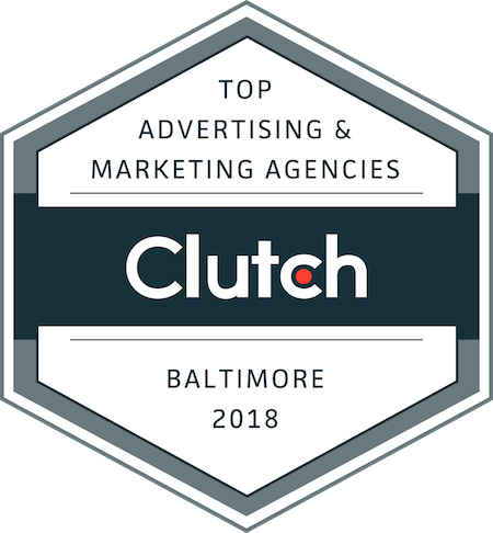 badge for top advertising and marketing companies in baltimore in 2018