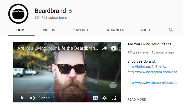 Beardbrand youtube channel