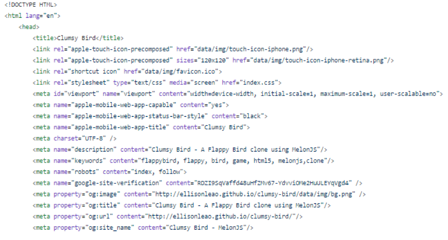 Clumsy Bird source code
