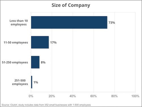 Company size - Clutch's Small Business Survey 2016