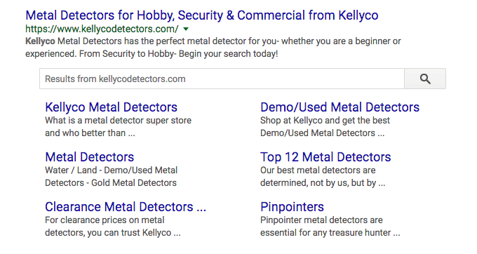 Kellyco metal detectors google search box