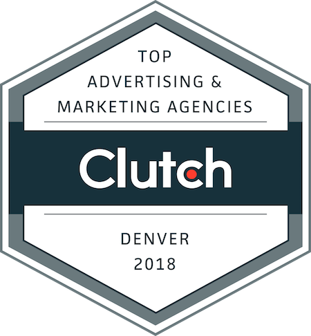 badge for top advertising and marketing companies in denver