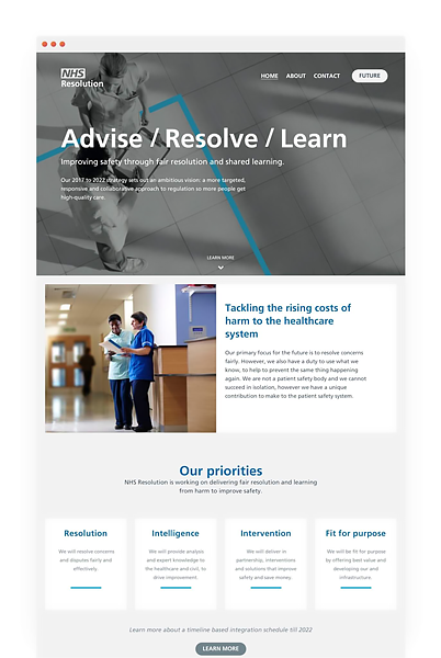 NHS Resolution website rebrand using hybrid development approach