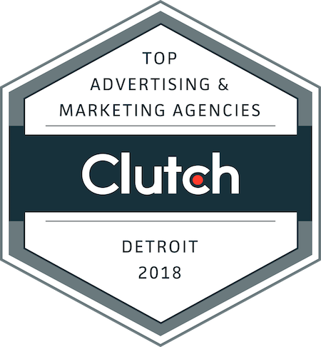badge for top advertising and marketing companies in Detroit in 2018