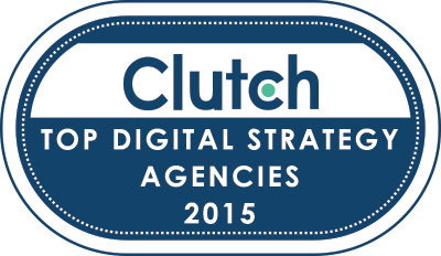 Top Digital Strategy Agencies 2015 Clutch Badge