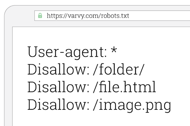 Disallow using robot.txt