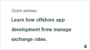 Learn how offshore app development firms manage exchange rates.