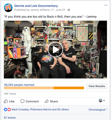 Facebook ad - video clip