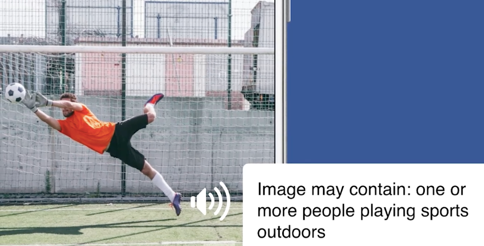 Facebook AI technology soccer man