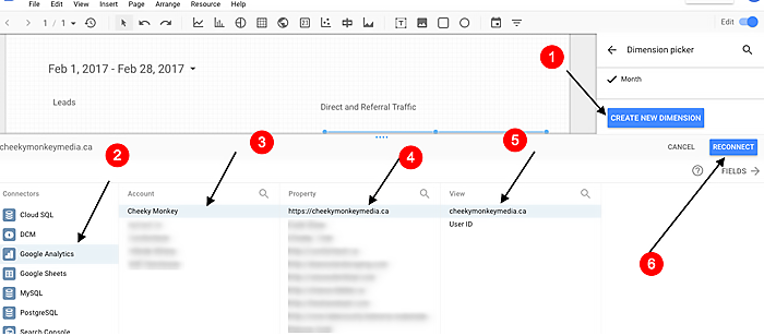 troubleshooting the process of visualizing KPIs in Google Data Studio