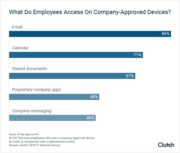 What Employees Access Using Company Devices