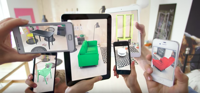 Ikea's AR app allows customers to see furniture in place before ordering.
