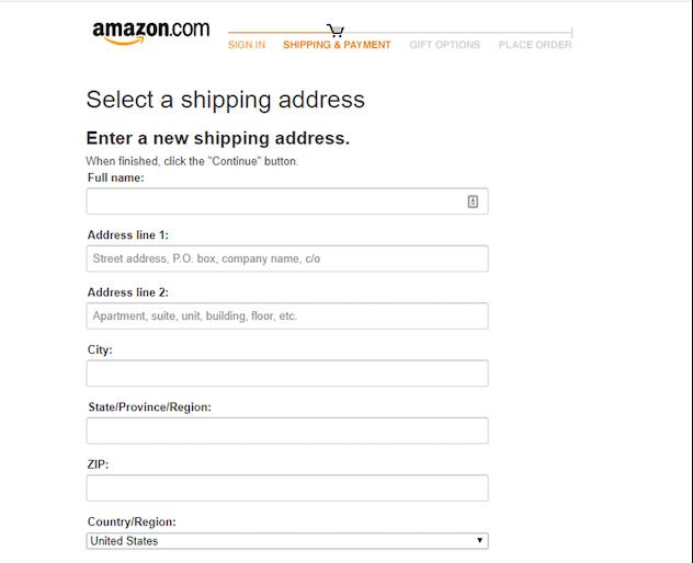 Amazon One Page Checkout
