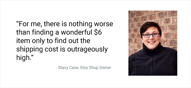 Stacy Case Free Shipping Quote Card