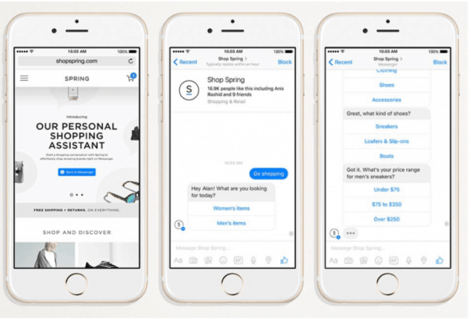 AI technology allows for personal shopping assistants to help shoppers find what they need.