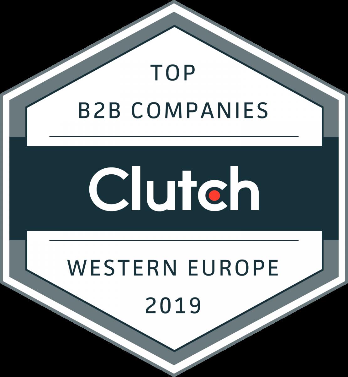 Clutch Award - Western Europe B2B Companies