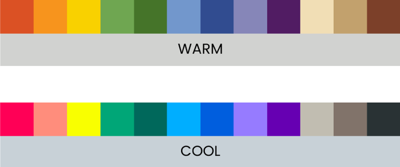 Don't Mix Cool and Warm Colors