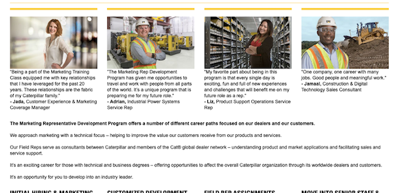 caterpillar mentorship program