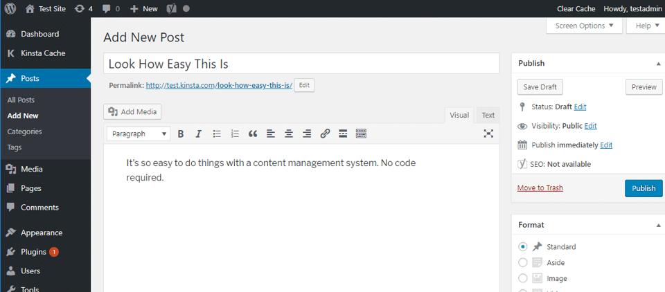 WordPress: Add New Post