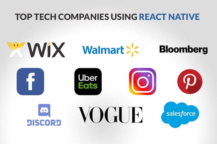 Top Tech Companies Using React Native
