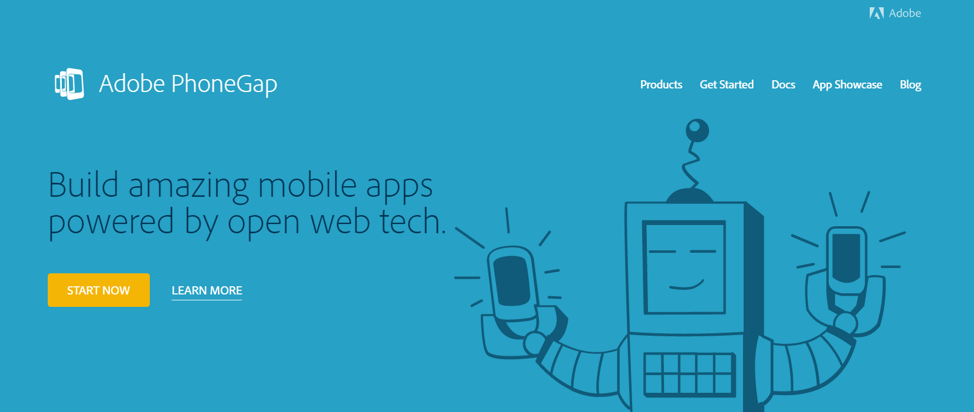 Adobe PhoneGap helps businesses build mobile apps by open web tech.
