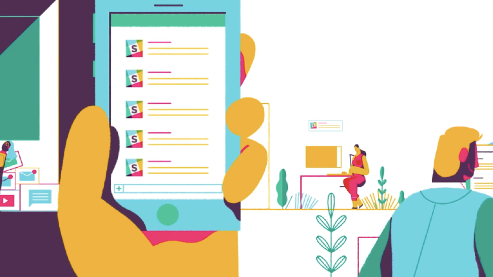 Slack's explainer video shows how Slack can help people stay organized in the workplace.