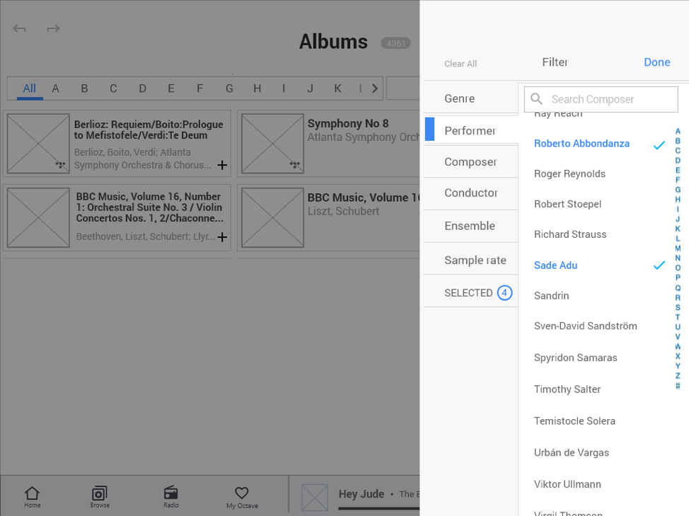 Albums Interface on App for Seniors