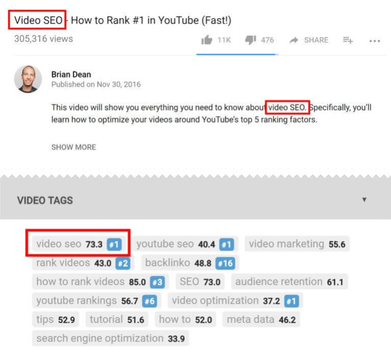 video seo how to rank