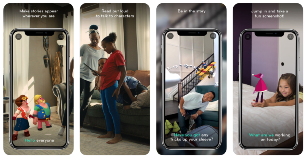 Using the Wonderscope App, you can make stories appear wherever you are, read out loud to talk to characters, be in the stories, and take screenshots while interacting with characters.