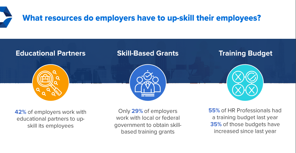 What resources do employers have to up-skill their employees