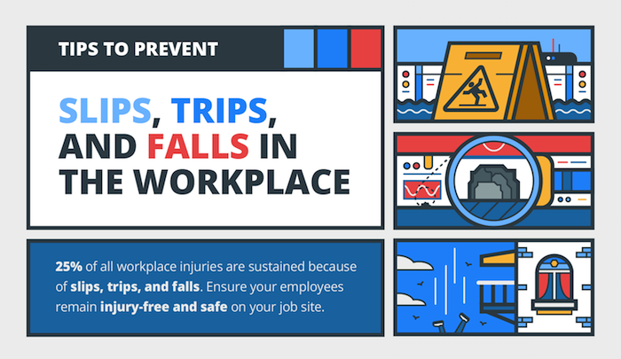Tips to prevent slips, trips, and falls in the workplace