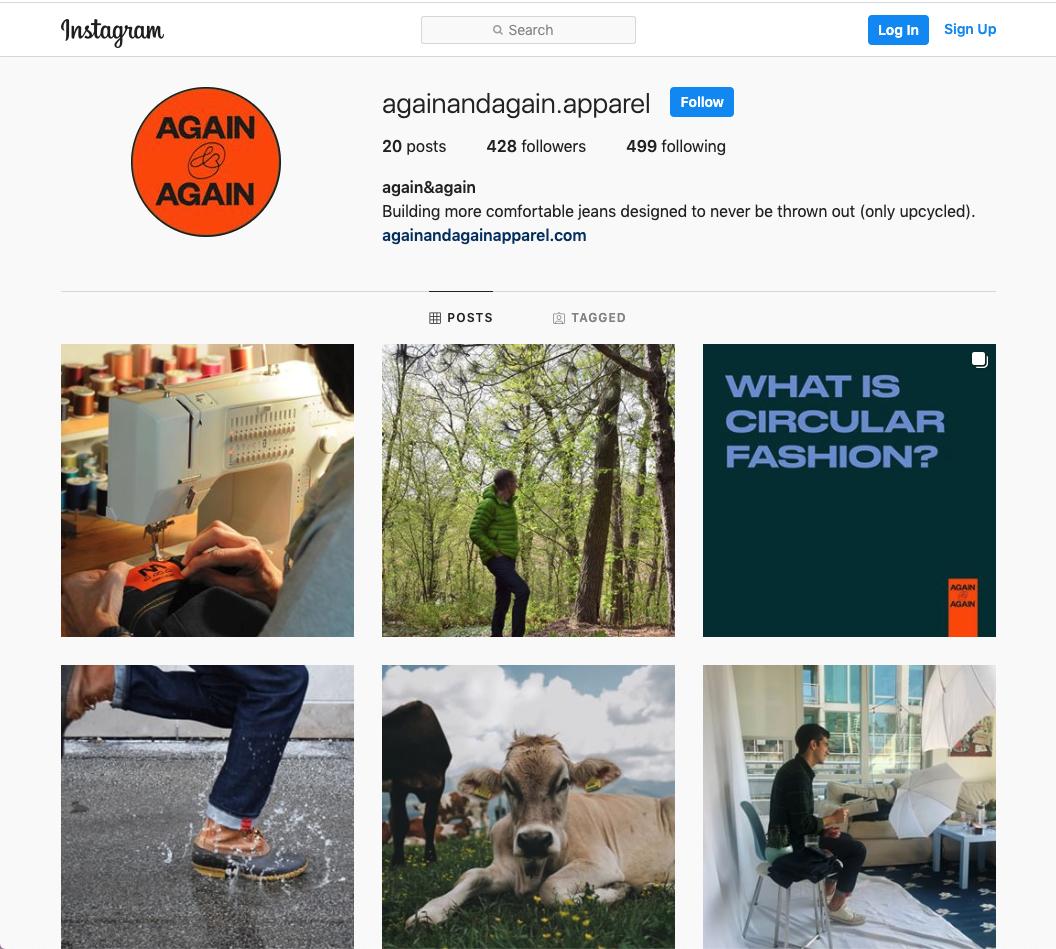 again&again instagram account