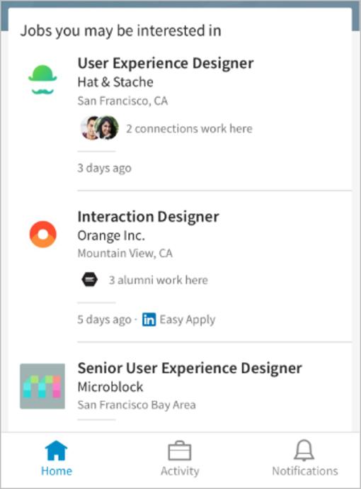 Emplois LinkedIn susceptibles de vous intéresser