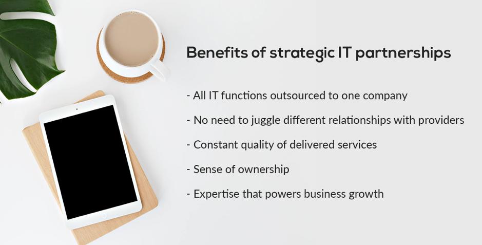 Benefits of strategic IT partnerships