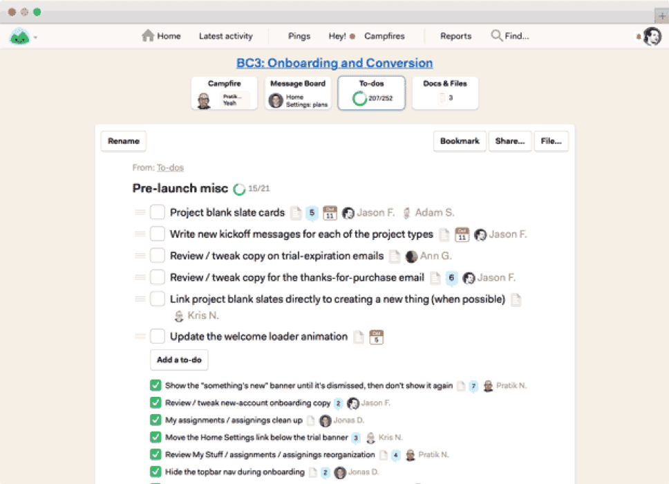Basecamp can help teams collaborate.