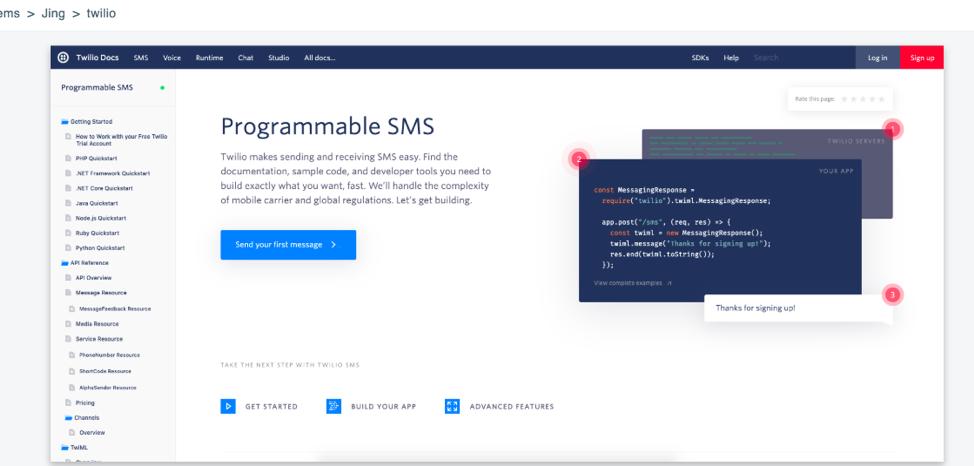 API Documentation by Twilio