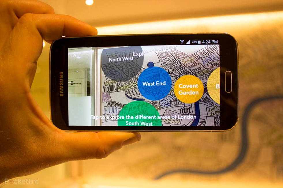 Airbus's app allows travelers to learn about their surroundings through AR.