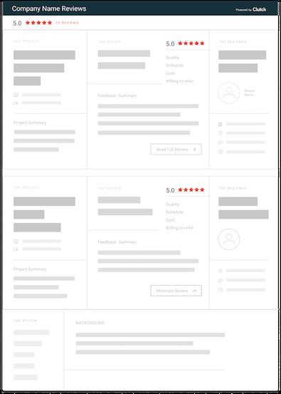 clutch review widget - everything widget