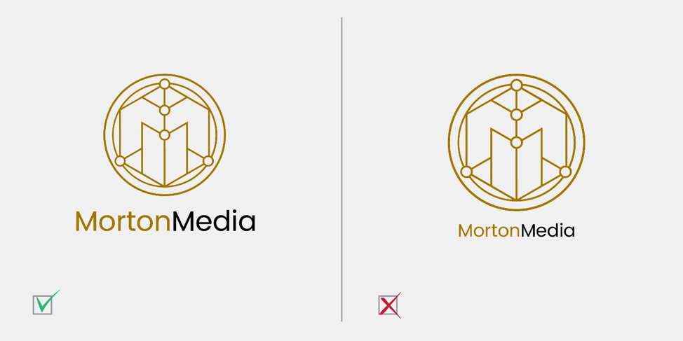 Don't Make Your Company Name Too Small Compared to the Icon