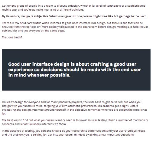 Example of Devetry Blog