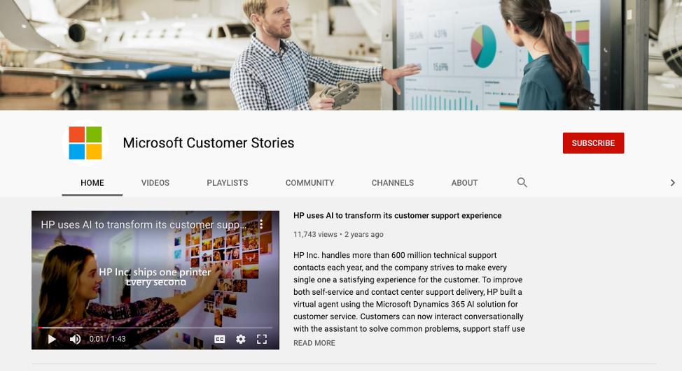 microsoft customer content