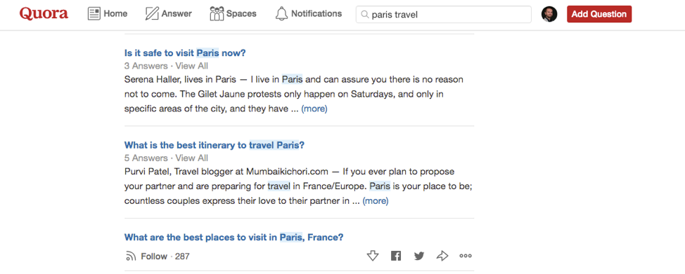 quora for long tail keywords