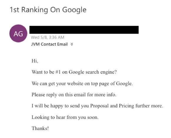 ranking on Google